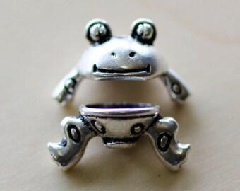 Frog  Bead Caps.