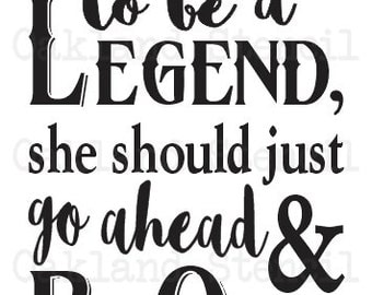 """Primitive STENCIL**I Figure if a girl wants to be a Legend~Calamity Jane**12""""x24"""" for Painting Signs,Canvas,Fabric,Wood,Airbrush, Vintage"""