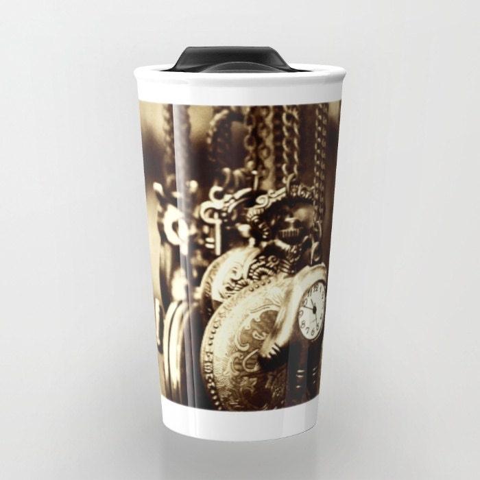 Travel Coffee Mug Ceramic Travel Mug Vintage