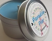PARADISE PIER - Candles with Character | Soy Wax Candle | Hand Poured | Disney Scented | Wedding Favors | Gift | Travel Tin | Cotton Candy