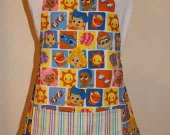 Child's Medium Apron - Bubble Guppies