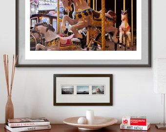 Paris Carousel. Fine art photography giclée print signed by the artist. A2 poster.