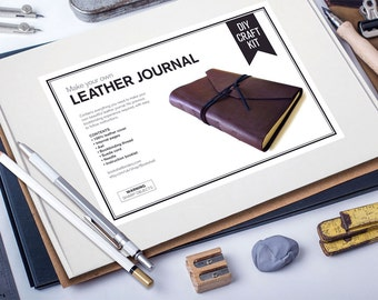 Bookbinding kit Mens Leather journals College student gift Bridesmaid gift DIY gift for woman DIY gift for him Bible journal kit DIY Bujo