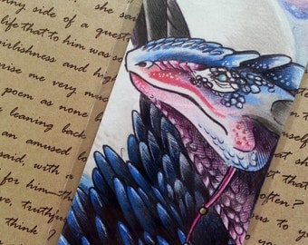 Winged Rock Dragon (Twilight) - Original Bookmark Illustration*~