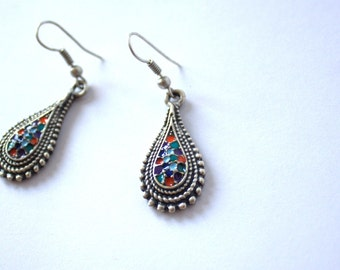 OTTOMAN EARRINGS / / silver plated earrings / / Turkish jewelry/tribal jewelry/gift for you / Valentine's day