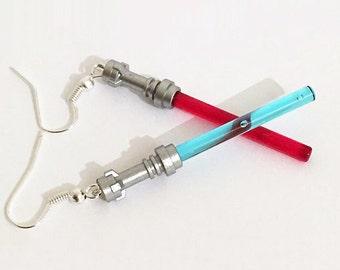 LEGO Sith/Jedi Lightsaber hook earrings