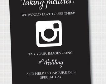 Instagram Wedding Sign | Picture Sign | Wedding Sign | Digital File 8x10