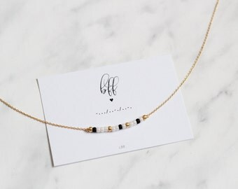 BFF Morse Code Necklace, BFF Morse Code Jewelry, Gift for best friend, Dainty Jewelry, Make a wish jewelry, Gift for her, Birthday gift, BFF