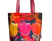 Boho Bag, Womens Handbag, Floral Handbag, Gift for Her, Pattern Bag, Shoulder Bag, Girlfriend Gift, Designer Purse Bag, Artistic Bag