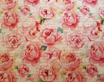 Rose Print novelty Quilting fabric 1/2 Yard~Yardage available! Sold by 1/2 yard