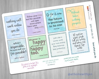 Inspirational quotes for your Erin Condren Life Planner, Plum Planner, Filofax planner