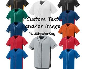 Custom Baseball Youth Jerseys, Baseball Jersey, Custom Jersey, Custom Baseball Jersey, Kids Jersey, Kids Baseball Jersey