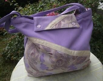 purpel Bag - Textilbag - handmade Bag - Shoulderbag - Polyesterbag