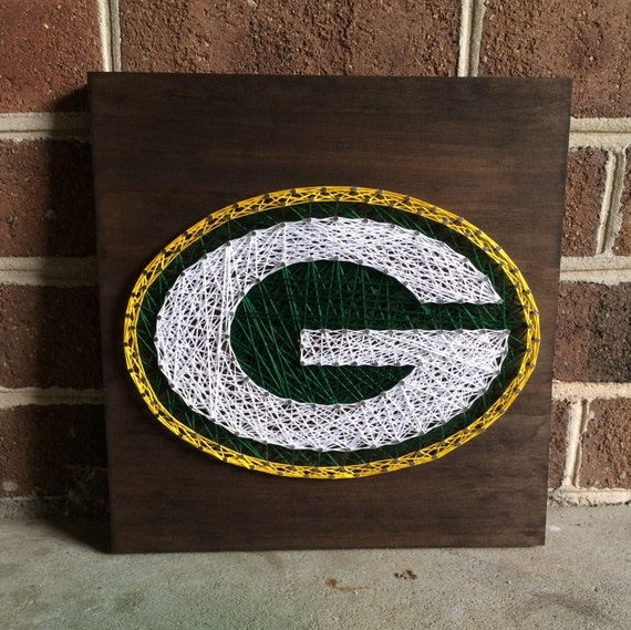 Man Cave String Art : Green bay packers string art wood sign man cave sports wall