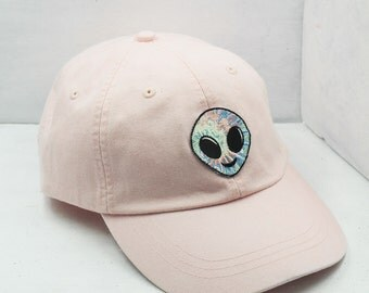 Alien Embroidered Baseball Hat - Choose Your Cap Color!