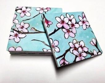 Floral Coasters - Floral Decor - Flower Decor - Drink Coasters - Tile Coasters - Ceramic Coasters - Table Coasters On Sale