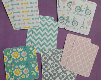 Set of 12 journaling cards (handmade Project Life cards)