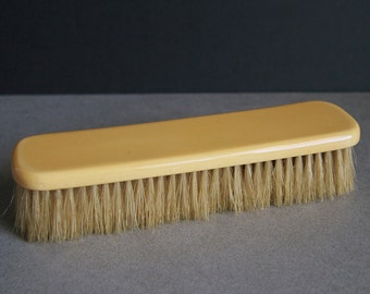 Vintage 1930s Art Deco Ivory Celluloid Clothes Clothing Brush with Natural Bristles
