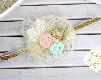Sweet Vibes Headband- Rosette Flower - Photo Prop - Spring Headband - Girls Headband - Weddings - Flower Girl - Easter Headbands -