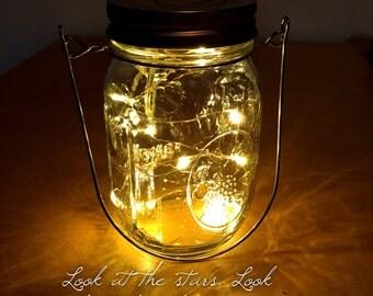Firefly Lights with Mason Jar Lantern, Wedding Lights, Outdoor Lights, Hanging lantern, wedding lanterns, rustic lanterns, outdoor lantern