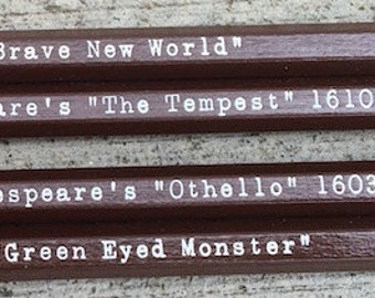 Shakespeare's Phrases on 2 pencils
