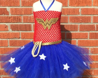 Wonder Woman Tutu Dress - Wonder Woman Halloween Costume - Wonder Woman Costume for Toddlers - Wonder Woman Outfit - Wonder Woman Dress