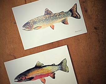 Small Trout Prints, Fisherman Series