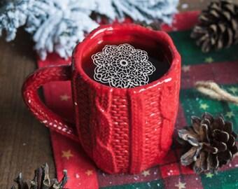 "24 Sugar Doilies 2.5"" Edible Anastasia Doily Tea Doilies Coffee Doilies Christmas Gift Holidays Winter Xmas Stocking Stuffer"