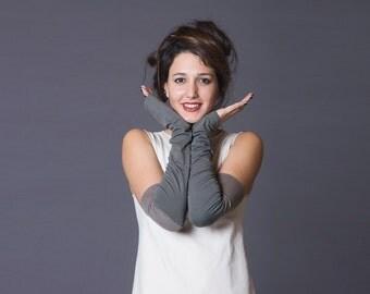 Arm warmers, Fingerless Thumbhole gloves, M-Sleeves