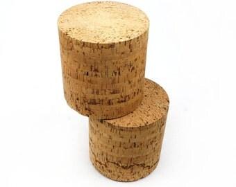 Vintage Round Cork Block Made In Portugal
