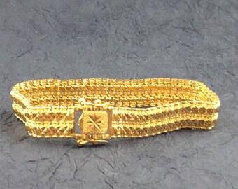22 Karat Woven Link Bracelet Free Shipping!