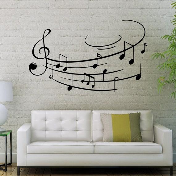 Music Notes Wall Decals Music Vinyl Sticker Living Room Decor