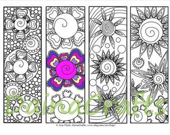 Bookmark to color Etsy