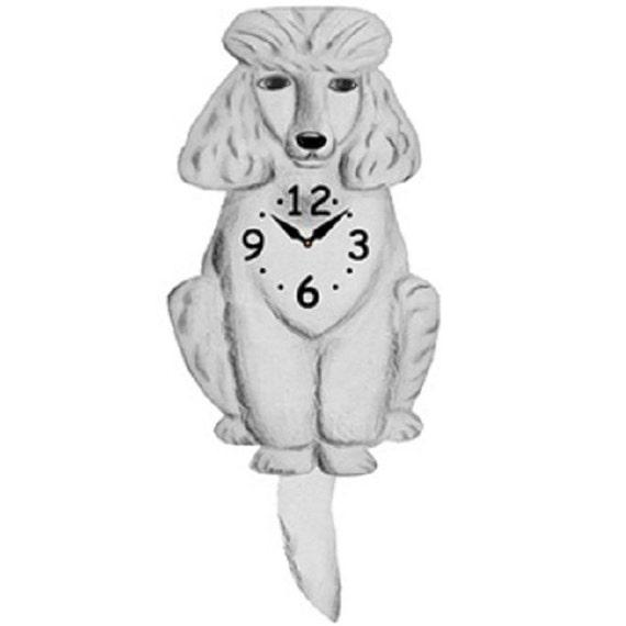 Poodle Wagging Tail Pendulum Clock