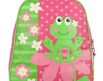 Stephen Joseph Go Go Backpack Girl Frog Monogrammed School Backpack