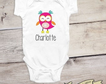 Cute Personalized Onesie® Owl Custom Gift for Babies Personalized Baby Shower Gift Idea