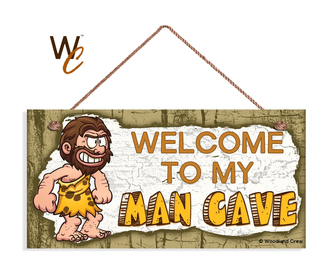 Rustic Man Cave Sign : Welcome to my man cave sign rustic manly decor weatherproof
