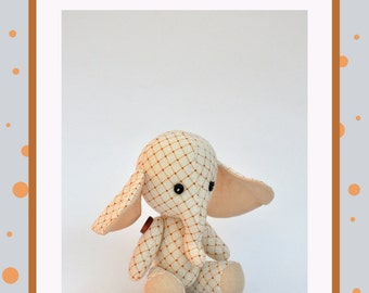 elephant pdf pattern, PDF Plush elephant, stuffed elephant, Soft Animal, Animal toy, сloth toy