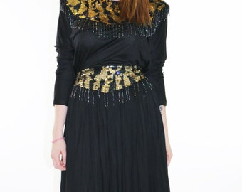 Cotton top and skirt with Sequin Embellishments