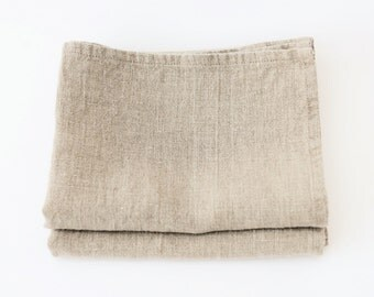 Set of 2 - Stone Washed Linen Kitchen Natural Flax TEA TOWELS - 66cmx44cm
