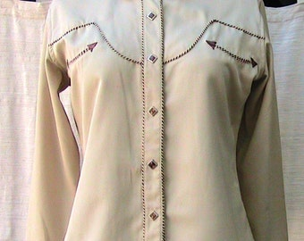 Vintage Cowgirl Shirt - small