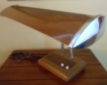 Mid Century Double Tube Flourescent Goose Neck Desk Lamp - Industrial Desk Lamp-All Original Parts