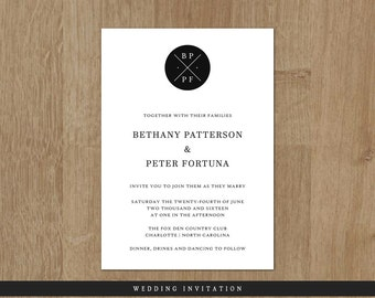 Printable Wedding Invitation - Wedding Invite - Printable Wedding Invite - Wedding Invitation - The Smythson Collection