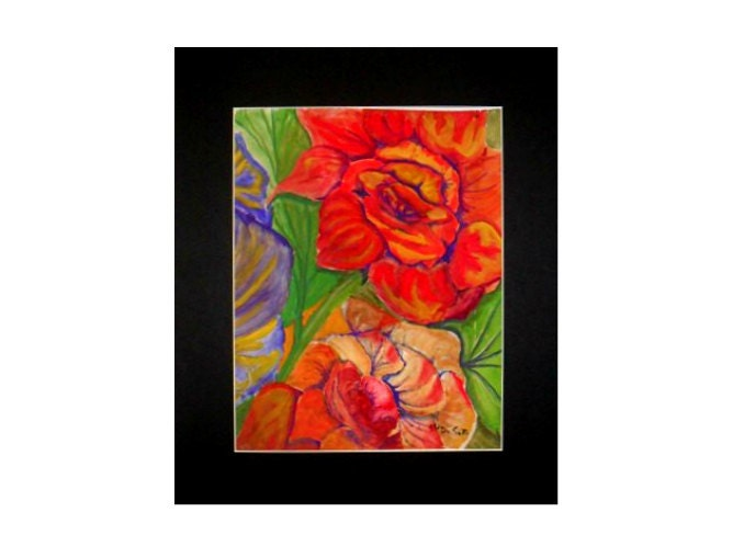 Oho Room Decor Red Flowers Modern Art Prints Cool Posters