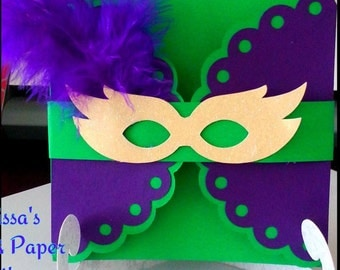Mardi Gras Invitation, Bourbon Street, Sweet Sixteen Invitation, Quincenera Invitation, Wedding Invitation, Cards, Invitations, Mardi Gras
