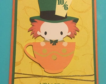 Disney Alice in Wonderland Mad Hatter Birthday card