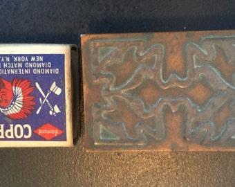 Vintage Copper Match Box