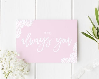 It Was Always You Card, I Do Wedding Card, See You At The Altar Card, Groom Wedding Card, Pretty Rose Wedding, Card For Groom, Card Bride
