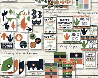 Dinosaur Party Decorations - Dinosaur Decorations Instant Download - Dinosaur Banner - Dinosaur Decor - Dinosaur Party - Dinosaur Birthday