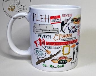 Friends TV Show Mug - Friends Quotes Mug - Friends Gift - Retro - TV Show - Cup - Mug - Tea - Coffee - Central Perk